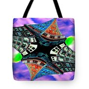 Smith Tower Fractal Tote Bag