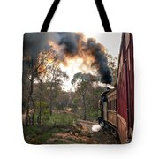 Smoke And Fire Tote Bag