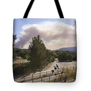 Smoke From Ventura Wildfire, View Tote Bag