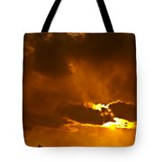 Smoke On The Horizon Tote Bag