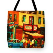 Smoked  Meat Sandwiches Await Tote Bag