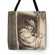 Smoker At A Window Tote Bag
