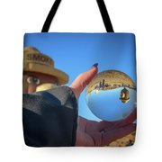 Smokey Bear Balloon In The Crystal Ball Tote Bag