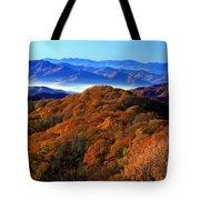 Smokey Mountain Sunrise Tote Bag
