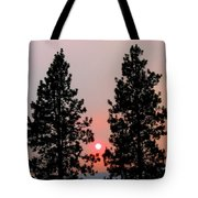 Smokey Okanagan Sunset Tote Bag