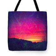 Smokey Purple Sunrise Tote Bag