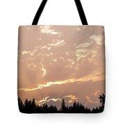 Smokey Skies Sunset Tote Bag
