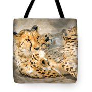 Smokin Cheetah Love Tote Bag