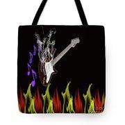Smoking Guitar Tote Bag