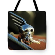 Smoking Skull Hood Ornament Tote Bag