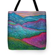 Smoky Mountain Abstract Tote Bag