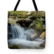 Flowing Stream #3, Smoky Mountains, Tennessee Tote Bag