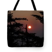 Smoky Mountain Sunset Tote Bag