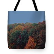 Smoky Mountains In Autumn Tote Bag by DigiArt Diaries by Vicky B Fuller