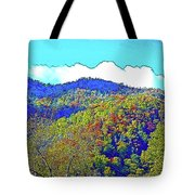 Smoky Mountains Scenery 6 With Sunny Day Filter Tote Bag