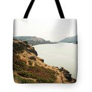Smoky Sky Gray River Tote Bag