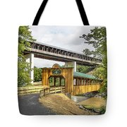 Smolen-gulf Bridge And Riverview Walk Bridge Tote Bag