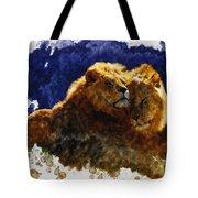 Smooching Lions Tote Bag