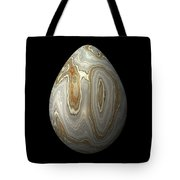 Smooth Grey Marble Egg Tote Bag