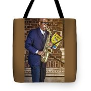 Smooth Sax Man Tote Bag