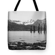 Smooth Seward Alaska Grayscale Tote Bag