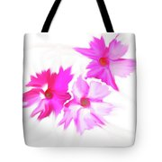 Smudged Floating Pink Flowers Tote Bag