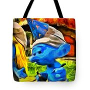 Smurfette And Friends - Pa Tote Bag