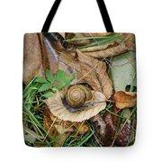 Snail At Home Tote Bag