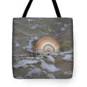 Snail In The Surf Tote Bag