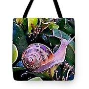 Snail On A Bush Version 2 Tote Bag