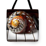 Snail Shell On Keys Tote Bag