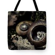 Snail Shells Tote Bag by Grebo Gray