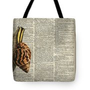 Snail Worm On Dictionary Page Tote Bag