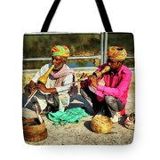 Snake Charmer And Apprentice Tote Bag
