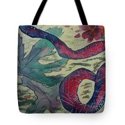 Snake In The Garden Tote Bag