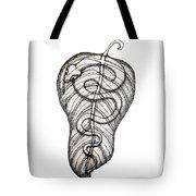Snake On A Leaf Tote Bag