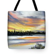 Snake River Sunset Tote Bag
