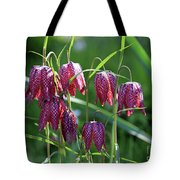 Snakes Head Flowers Tote Bag
