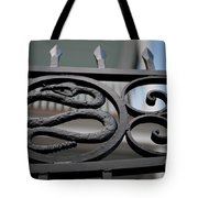 Snakes On A Gate Tote Bag
