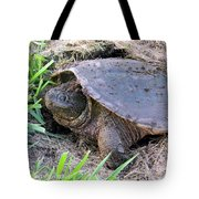 Snapping Turtle Laying Eggs Tote Bag