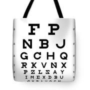 Snellen Chart - Full Alphabet Tote Bag