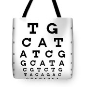 Snellen Chart - Genetic Sequence Tote Bag