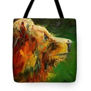 Sniffing For Food Bear Tote Bag