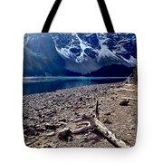 Snow Above Moraine Lake Tote Bag