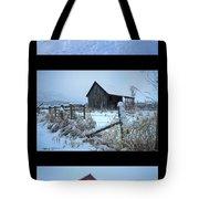Snow And Barn Trio Tote Bag