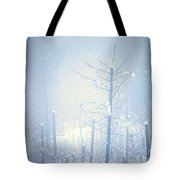 Snow And Remnants Of The Fire 2 Tote Bag