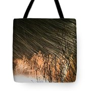 Snow And Wind Tote Bag