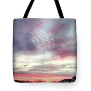 Snow Approaching Tote Bag
