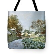 Snow At Argenteuil Tote Bag by Claude Monet