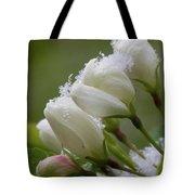Snow Blossoms Tote Bag